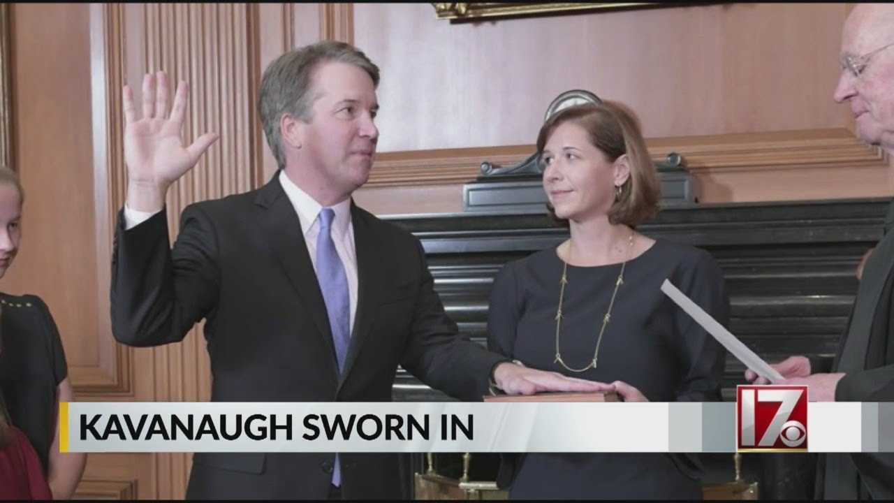 Kavanaugh sworn in as Supreme Court justice after 50-48 confirmation vote