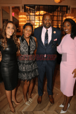 LEFT TO RIGHT: Sunny Hostin (Host/The View); Dawn Baxter (Honoree/Nike Executive); Malcolm Lee (Honoree/Producer and Director); Dr. Janna Andrews (Founder of Kicked It In Heels)