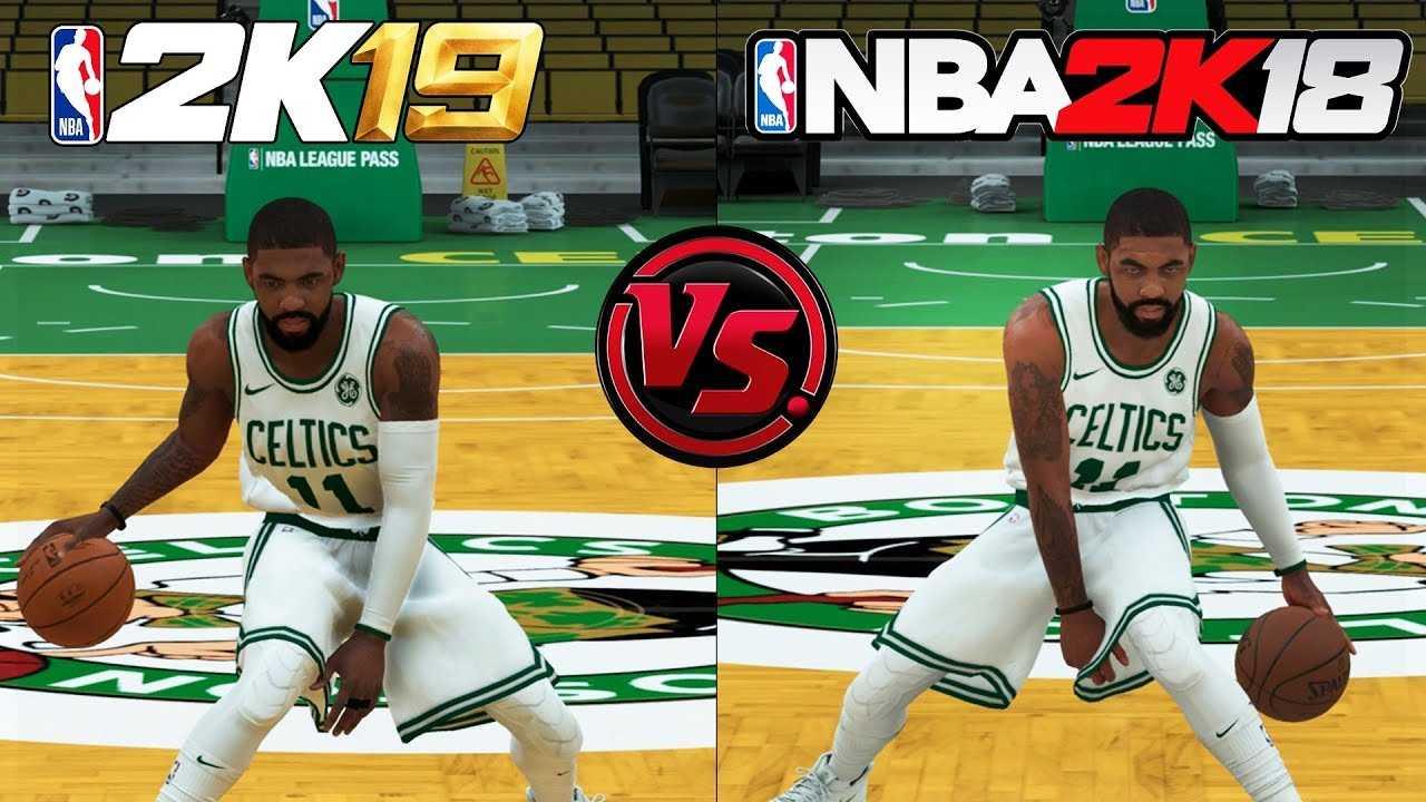 NBA 2K19 vs NBA 2K18 Kyrie Irving Shooting/Dribbling Animation Comparison