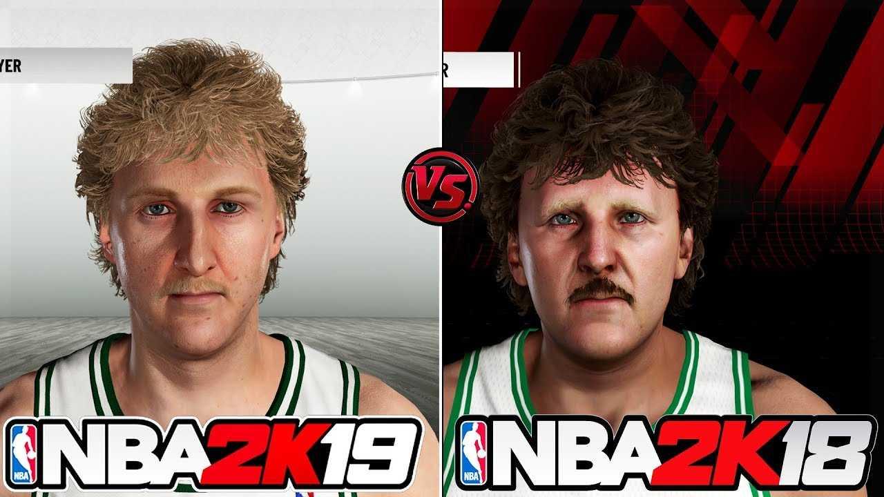 NBA 2K19 vs NBA 2K18 Legends Face/Graphics Comparison
