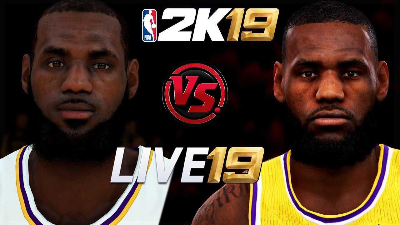 NBA 2K19 vs NBA LIVE 19 Faces/Graphics/Ratings Comparison