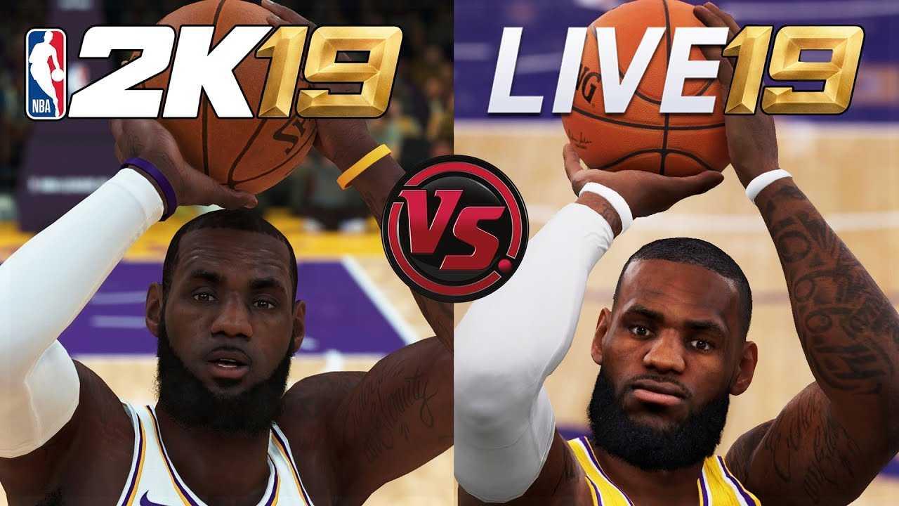 NBA 2K19 vs NBA LIVE 19 Lebron James Shooting/Dunking Animation Comparison