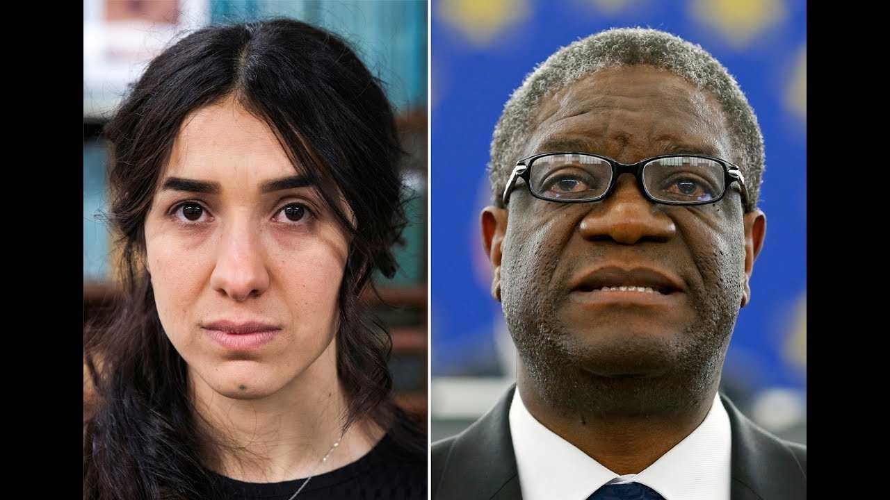Nobel Peace Prize winners fight rape as 'a weapon of war'