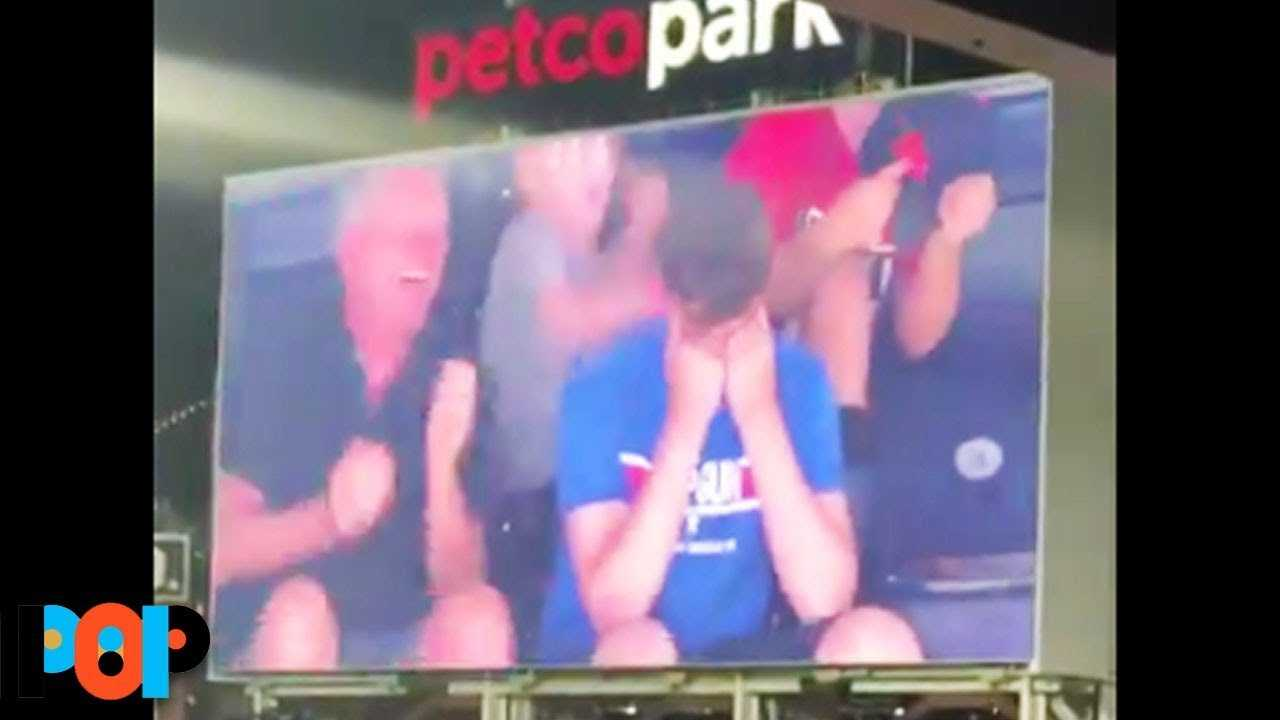 Teenager MORTIFIED On Jumbotron As Mom & Dad Dance For Crowd