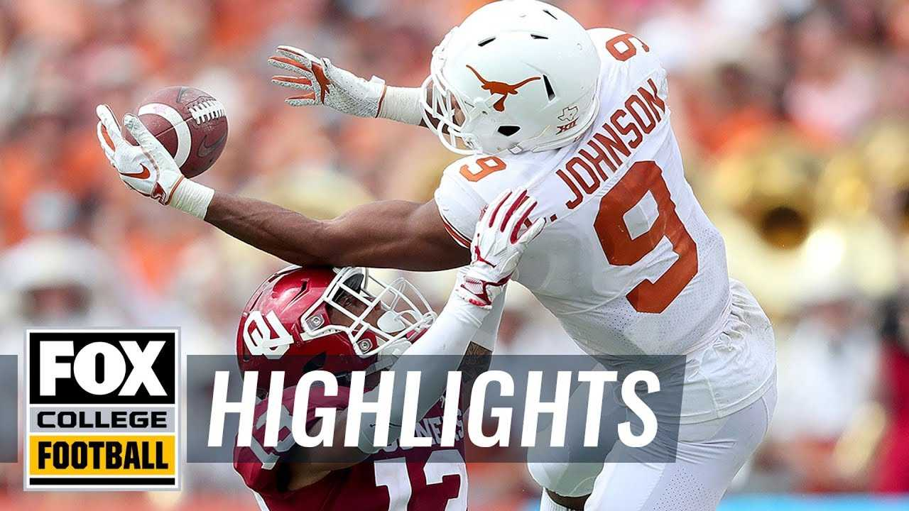 Texas vs. Oklahoma   FOX COLLEGE FOOTBALL HIGHLIGHTS