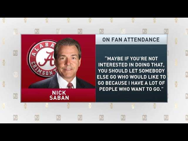 The Jim Rome Show: Nick Saban criticizes fan attendance