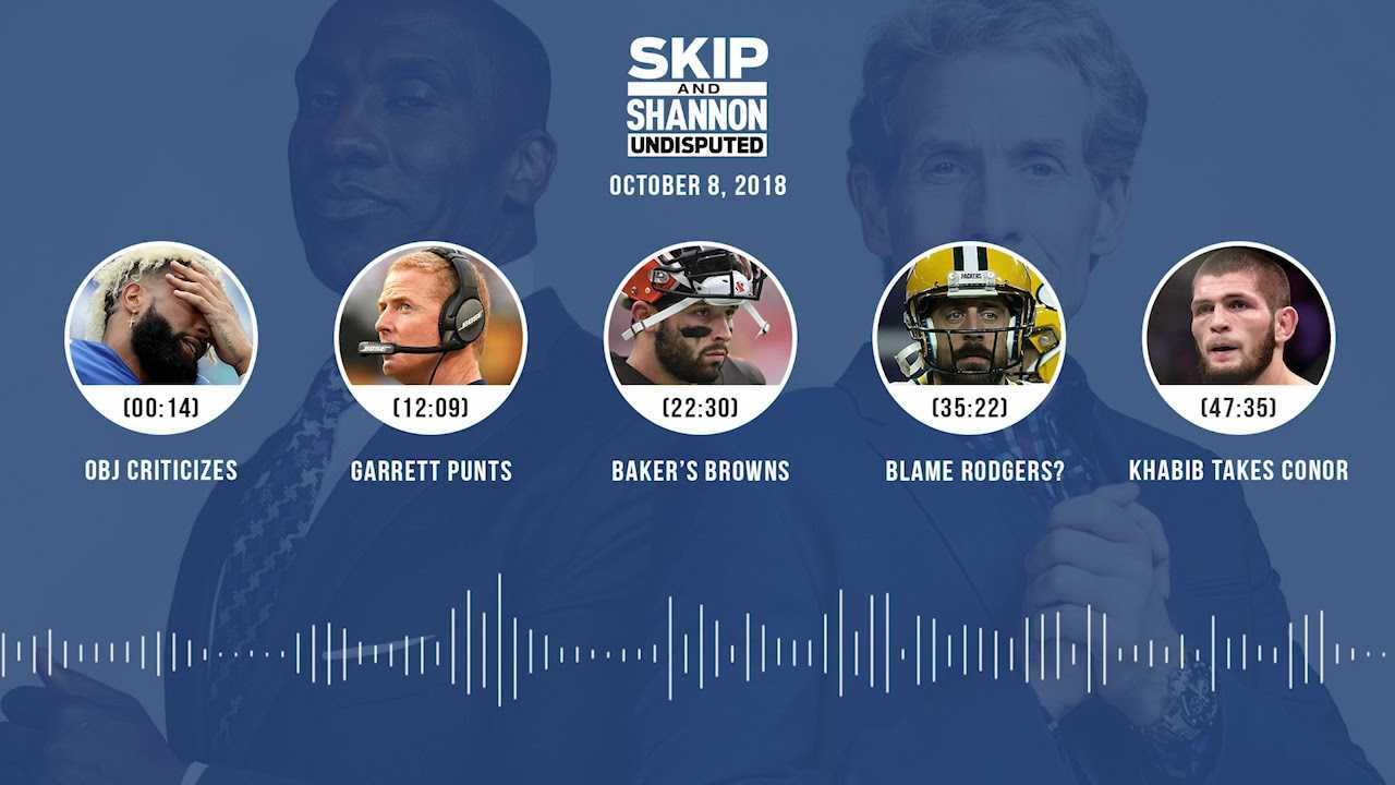 UNDISPUTED Audio Podcast (10.08.18) with Skip Bayless, Shannon Sharpe & Jenny Taft | UNDISPUTED