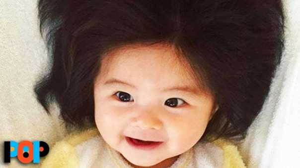 Baby Born With Full Head Of Hair Goes Viral