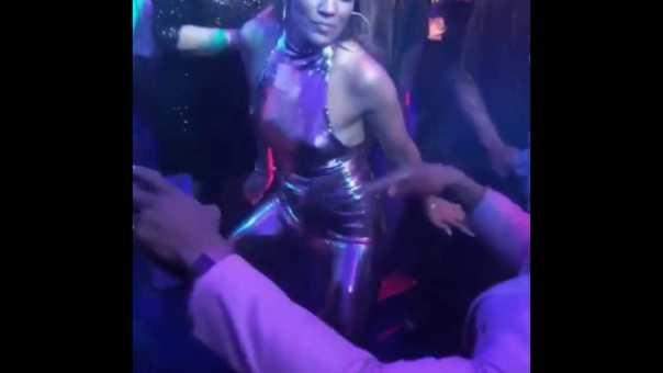 "Jennifer Lopez Dances to ""Back That A** Up"" at Vegas Party"