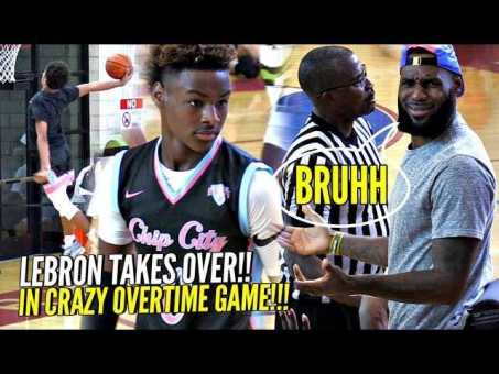 premium selection b8405 b820f LeBron James TAKES OVER As Coach & Gets INTO it w/ REF ...