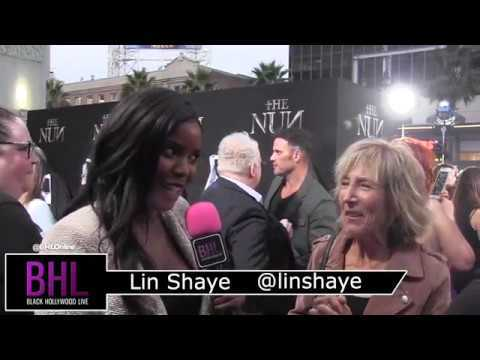 Lin Shaye talks about her career in horror films at the premier of The Nun