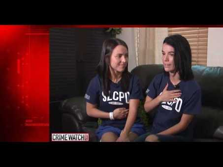 Two sisters fight off intruder with a knife