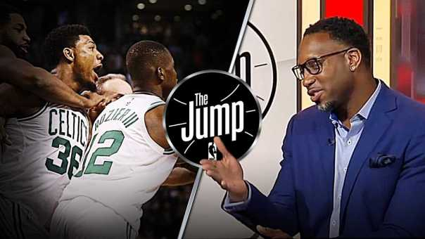 McGrady Likes Marcus Smart Backing Up Al Horford After J.R. Smith's Hard Foul   The Jump
