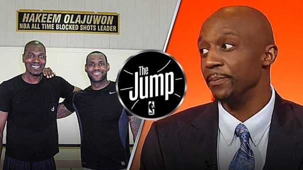 """Terry Thinks LeBron James Can't Play in Low Post: """"He is no Hakeem Olajuwon""""   The Jump"""