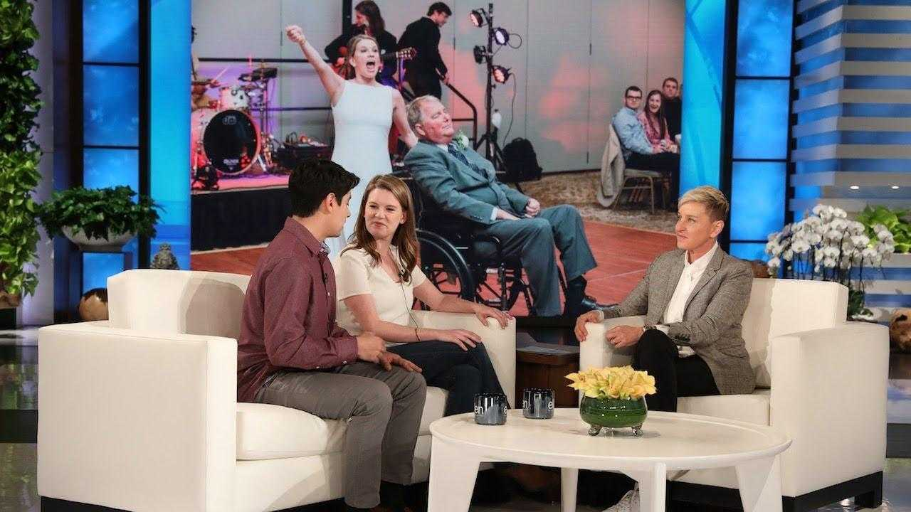 Ellen Welcomes Viral Bride Who Danced with Terminally Ill Father
