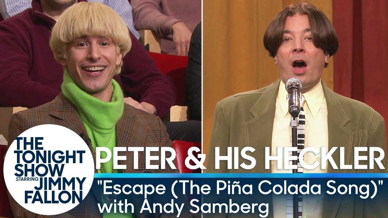 """Peter and His Heckler - """"Escape (The Piña Colada Song)"""" with Andy Samberg"""