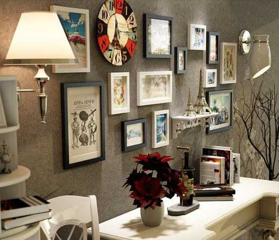 How the Photo Collage Can Change the Look of Your Drawing Room?