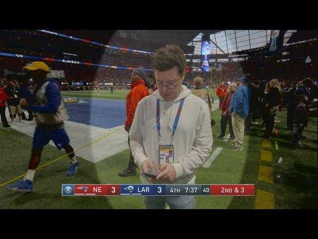 Average Andy Couldn't Contain His Excitement at the Super Bowl
