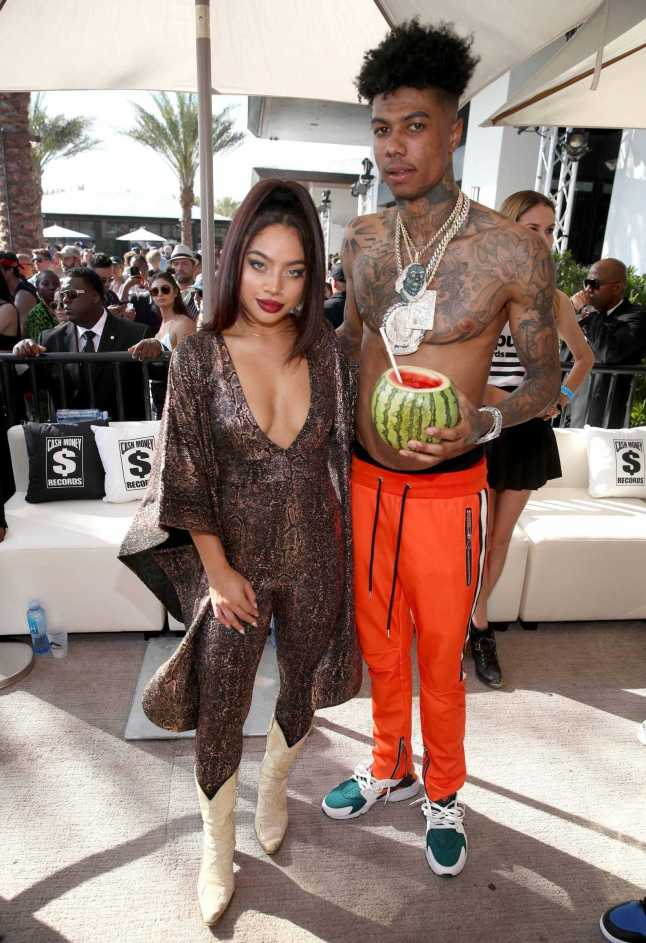 COACHELLA, CALIFORNIA - APRIL 14: Kiana Ledé (L) and Blueface attend Republic Records Celebrates Their Class Of 2019 In Coachella Valley at Zenyara on April 14, 2019 in Coachella, California. (Photo by Randy Shropshire/Getty Images for Republic Records)