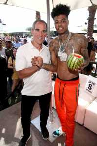 COACHELLA, CALIFORNIA - APRIL 14: Monte Lipman (L) and Blueface attend Republic Records Celebrates Their Class Of 2019 In Coachella Valley at Zenyara on April 14, 2019 in Coachella, California. (Photo by Randy Shropshire/Getty Images for Republic Records)