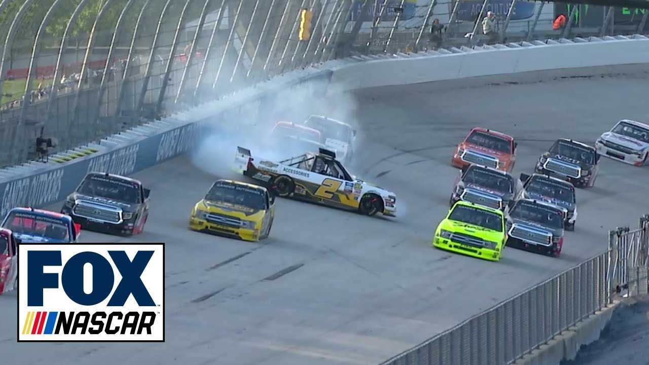 Sheldon Creed loses control and brings out late caution | NASCAR on FOX