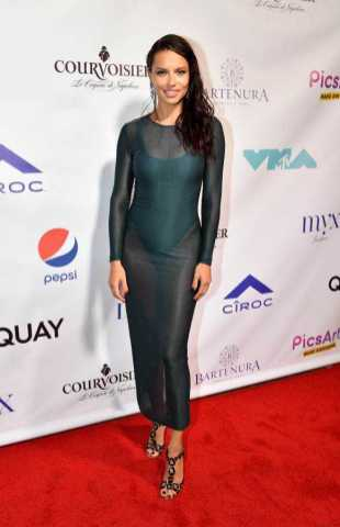 Adriana Lima on Red Carpet at Missy Elliott's MTV VMA Afterparty with Courvoisier-Optimized