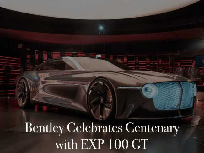 Bentley Celebrates Centenary with EXP 100 GT [Cars]