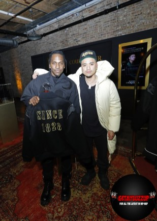 Multi-platinum rapper and entrepreneurPusha-T and fashion designer Rhuigi Villaseñor attend Maison Courvoisier on Saturday, February 15, 2020. Highlighting the achievements and creativity of artists with whom he has a personal connection, Pusha-T hand-selected the artisans to showcase their work at Maison Courvoisier and celebrate the power of shared success. (Photo by Jeff Schear/Getty Images for Courvoisier Cognac)