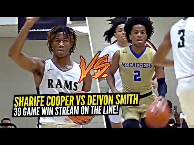 Sharife Cooper vs Deivon Smith!! McEachern 39 GAME WIN STREAK Put To THE TEST vs RIVAL ATLANTA TEAM!
