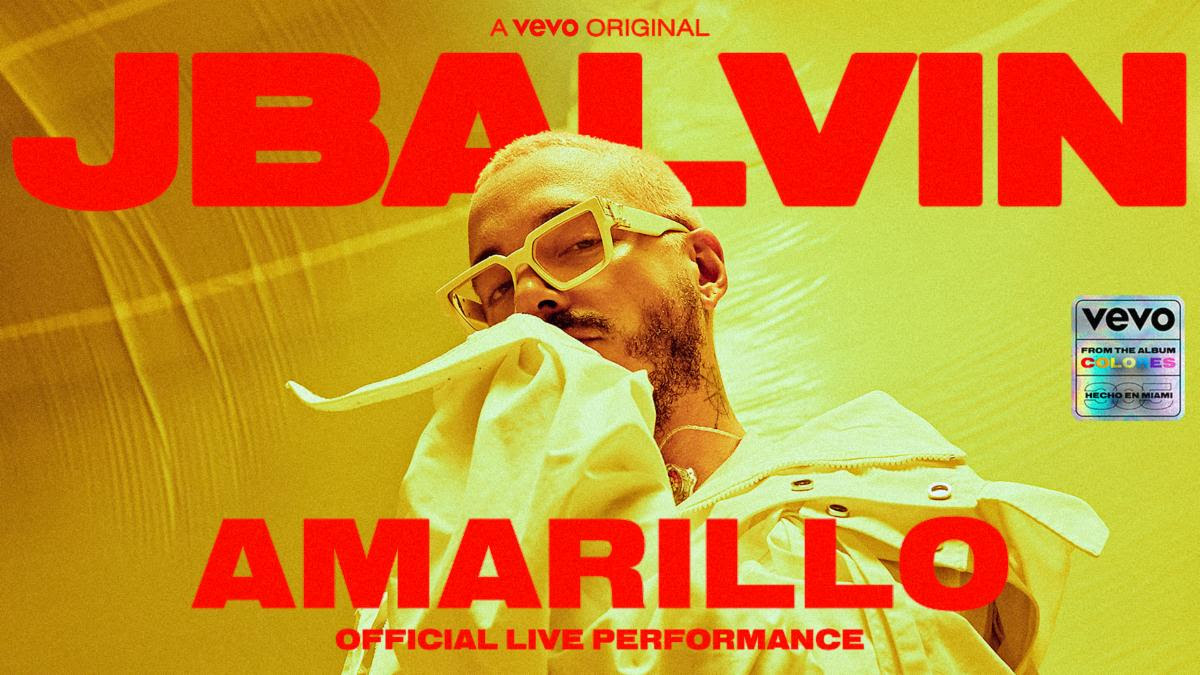 """J Balvin release Official Live Performance of """"Amarillo"""""""