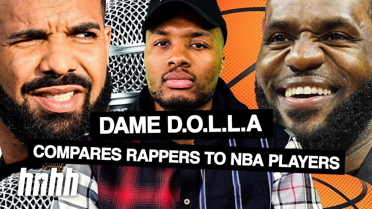 """If Rappers Were NBA Players: Dame D.O.L.L.A. Says He's The """"J. Cole"""" Of The NBA   HNHH"""