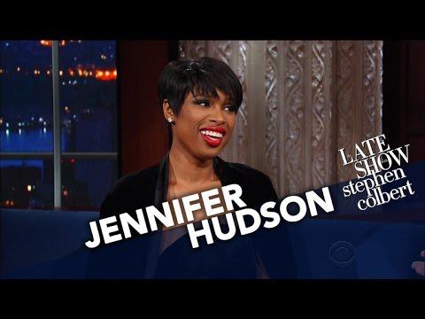 Jennifer Hudson Sings Her Fav Church Hymn to Stephen Colbert [Video]