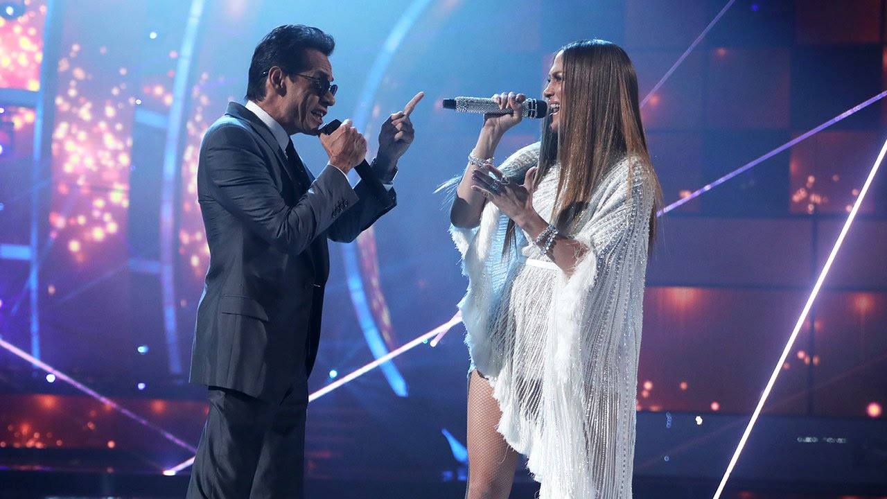 JLo and Marc Anthony Share a Kiss on Stage at the Latin GRAMMYs! [Gossip]