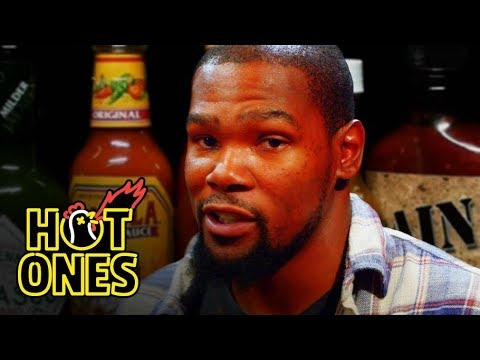 """Kevin Durant tries Spicy """"Wings of Death"""" on Hot Ones [Video]"""