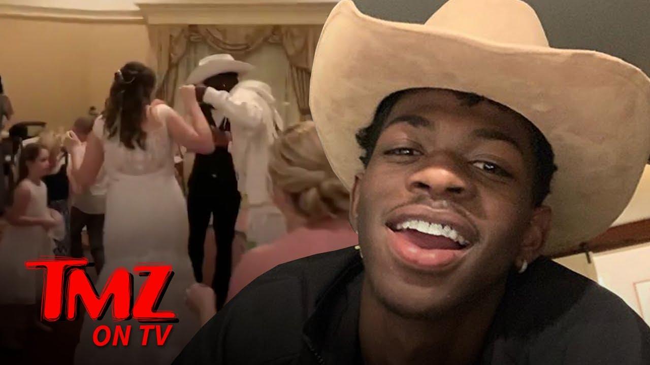 Lil Nas X Makes Surprise Wedding Appearance At Disney World   TMZ TV