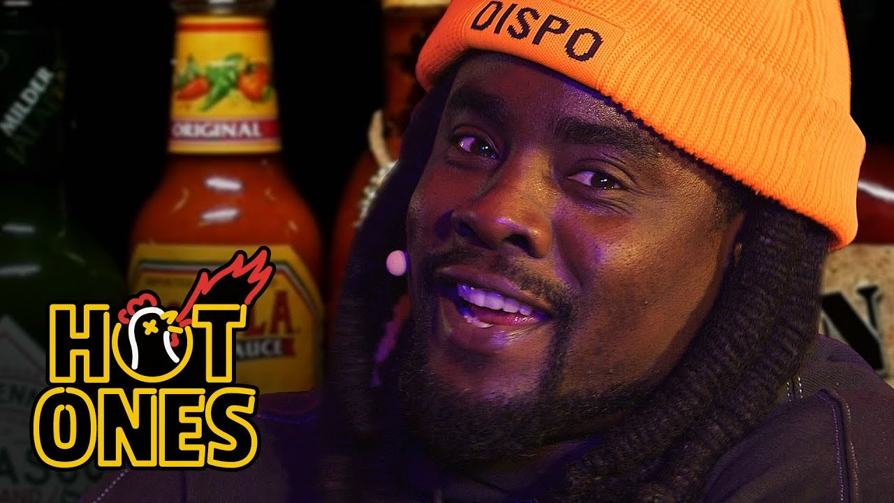 Wale Takes the Wings of Death Challenge Live   Hot Ones
