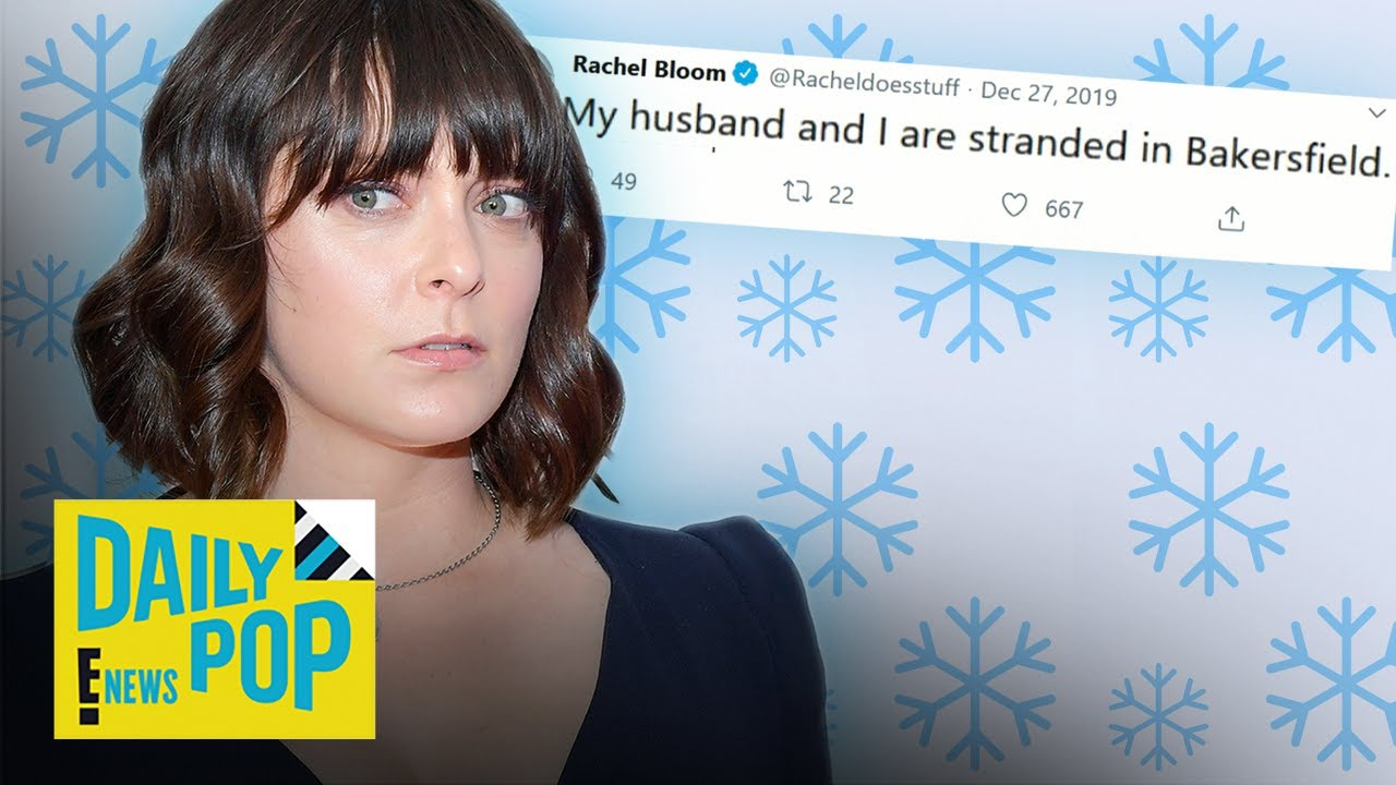 Pregnant Rachel Bloom Saved By Stranger During Snowstorm | Daily Pop | E! News