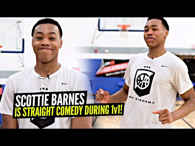 Scottie Barnes Is Straight COMEDY!! Hilarious Mic'd Up 1v1 Session at Pangos All American Camp!