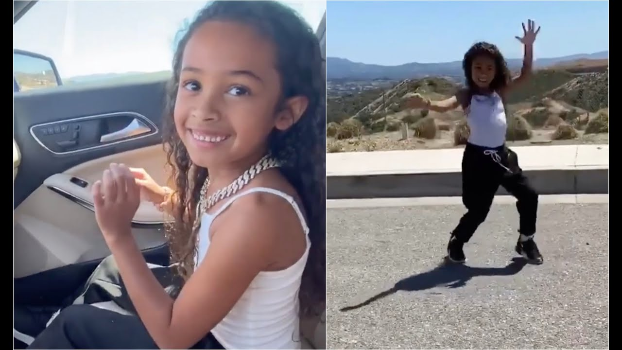 Chris Brown Daughter Does The Go Crazy Challenge