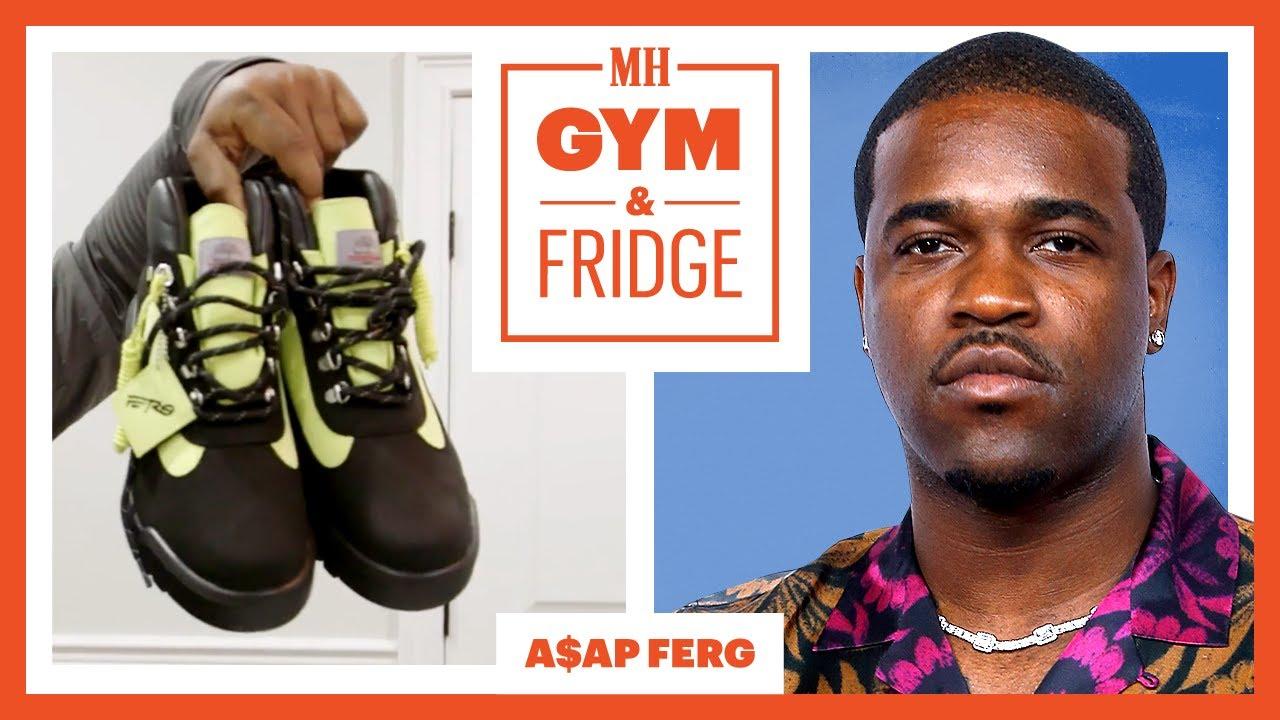 A$AP Ferg Shows His Home Gym & Fridge | Gym & Fridge | Men's Health