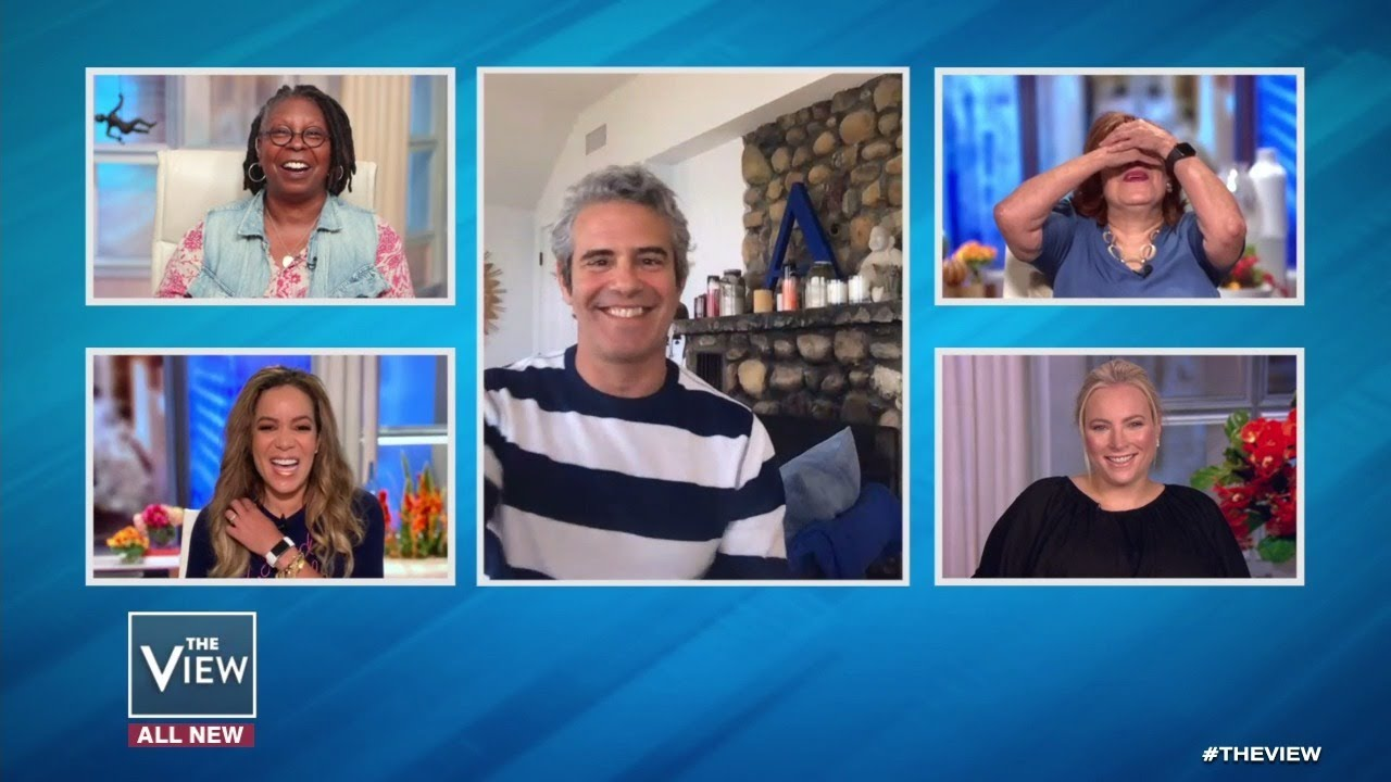 """Andy Cohen Dishes on """"Real Housewives"""" Drama and Filming WWHL from Home   The View"""