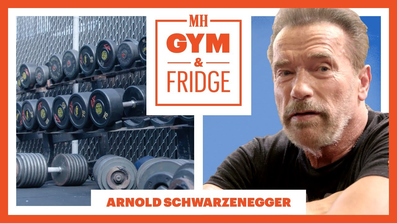 Arnold Schwarzenegger Shows His Gym & Fridge   Gym & Fridge   Men's Health