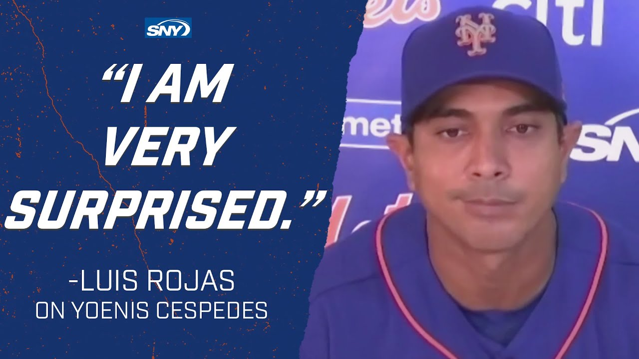 Luis Rojas 'surprised' that Cespedes has opted out | New York Mets | SNY