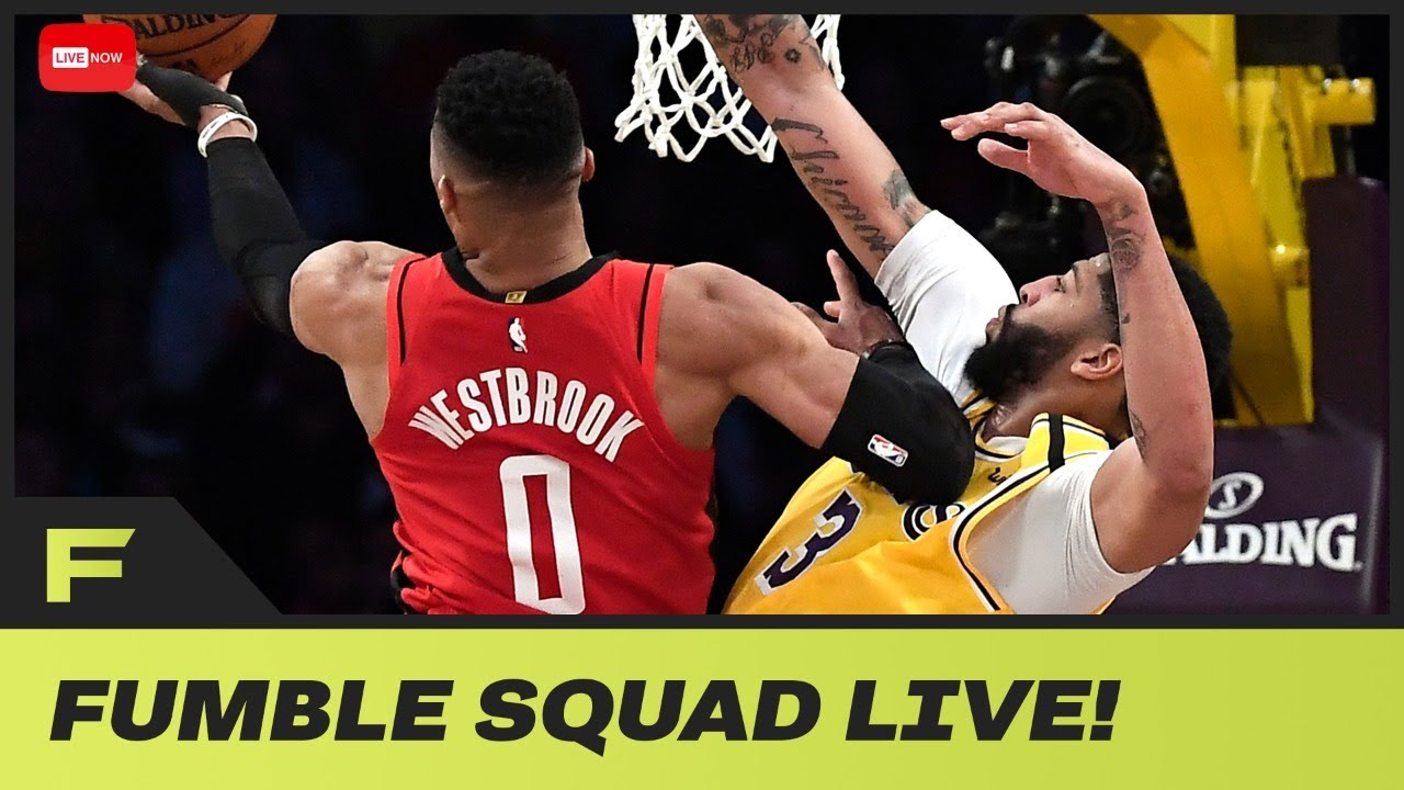 Anthony Davis Caught Yelling HELL NAH! At Russell Westbrook's Shot Attempt | Fumble Live