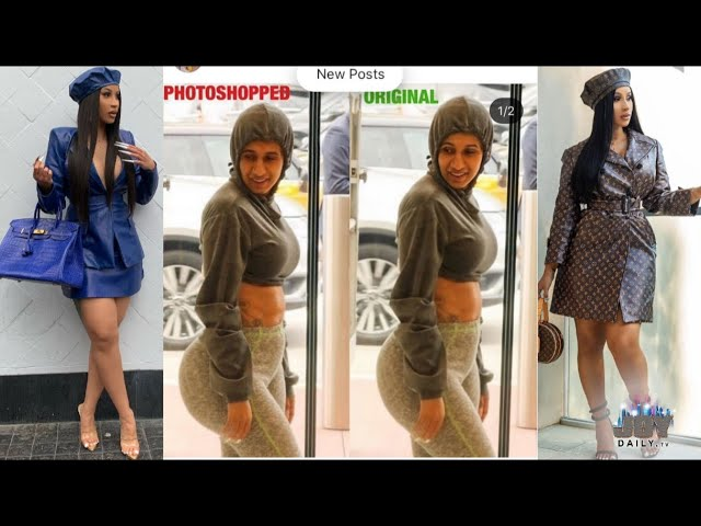 Cardi B Goes OFF on Critics who Photoshopped her to Look Ugly