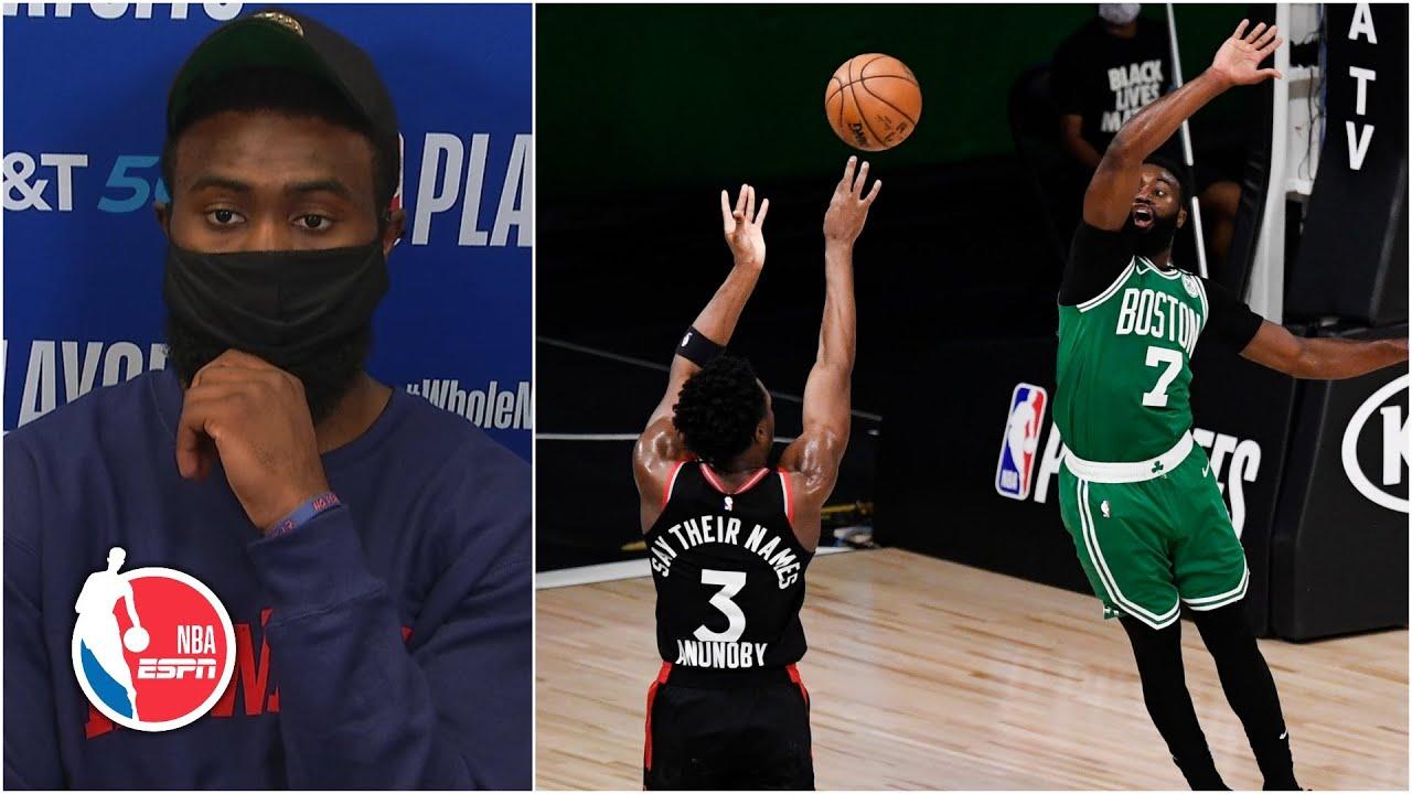 Jaylen Brown calls end of Celtics' Game 3 loss a disgrace | 2020 NBA Playoffs
