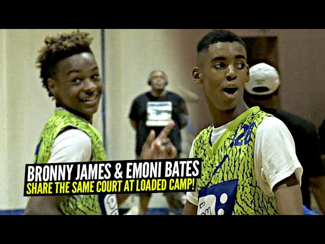 Bronny James & Emoni Bates On The SAME COURT!? STACKED Squads Go At It @D Rich Tv Camp!
