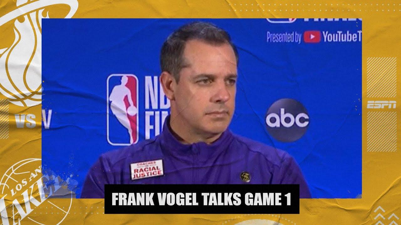 Frank Vogel recaps Lakers' Game 1 win vs. Heat | 2020 NBA Finals