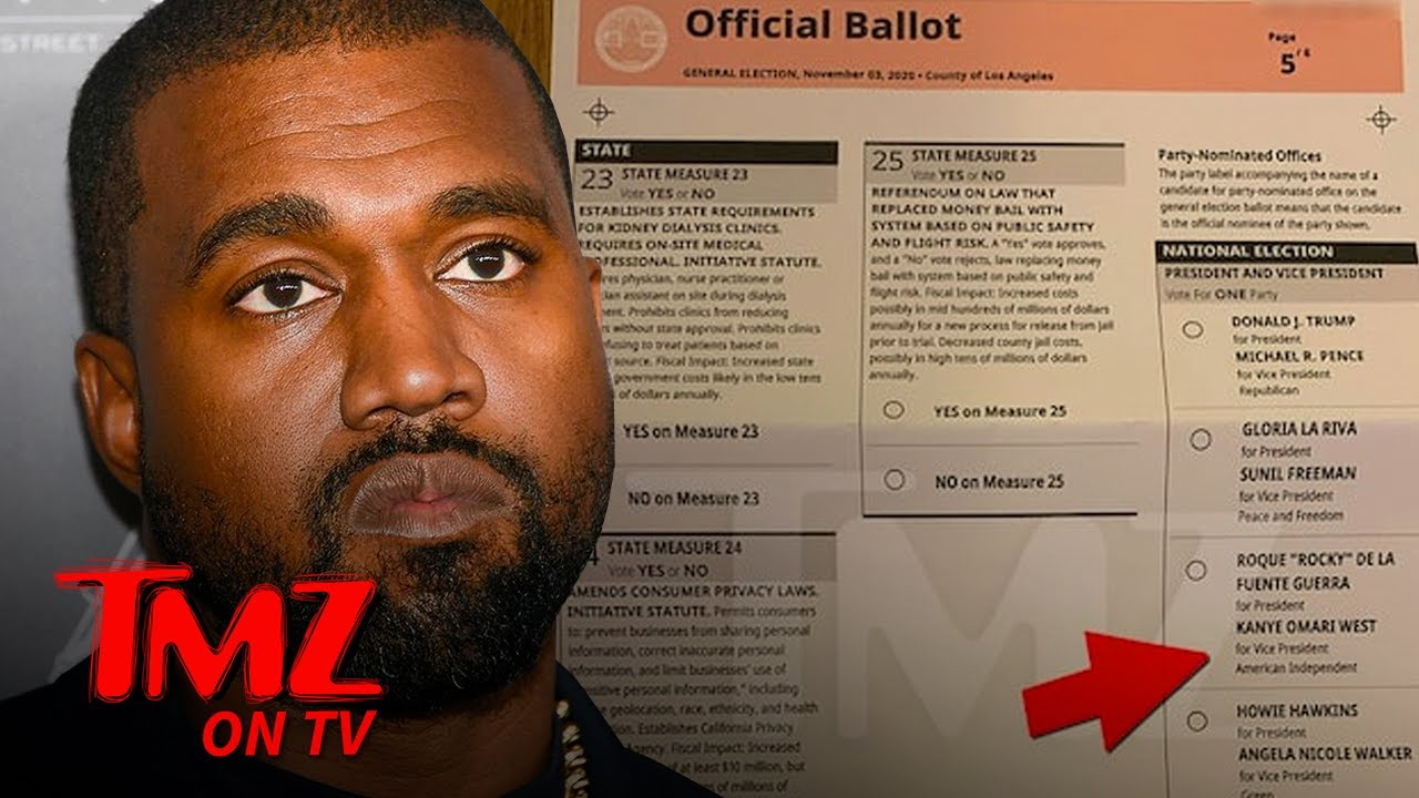 Kanye West on CA Ballot as Vice Presidential Candidate   TMZ TV