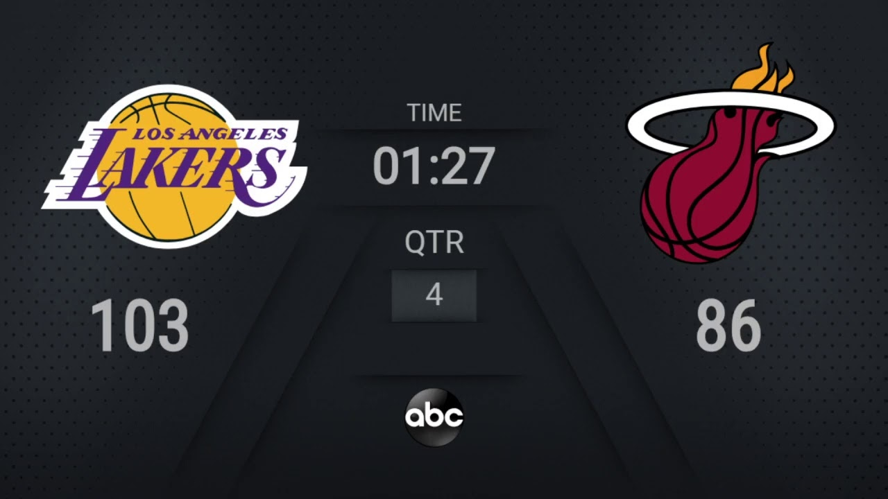 Lakers @ Heat Game 6 | NBA on ABC Live Scoreboard | #NBAFinals Presented by YouTube TV